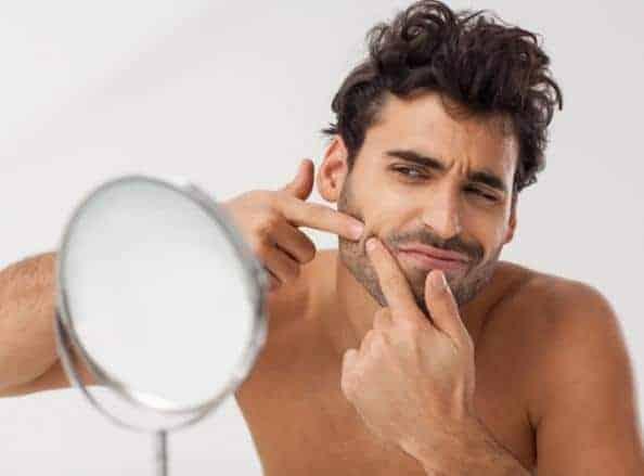 barbear homem pele com acne